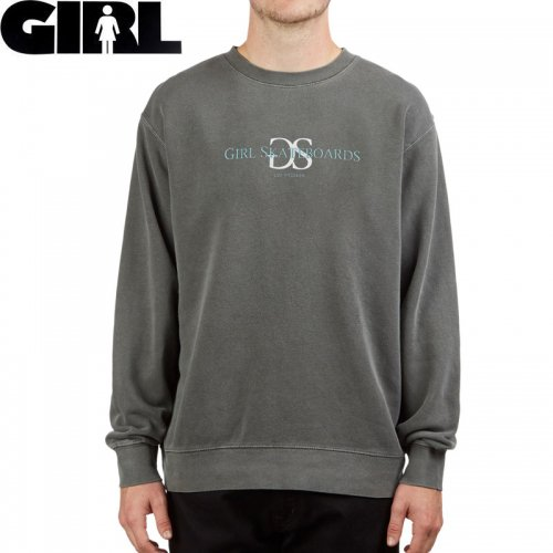 【GIRL ガール スケートボード スウェット】GSLA PIGMENT DYED CREW SWEATSHIRT【グレー】トレーナー NO64