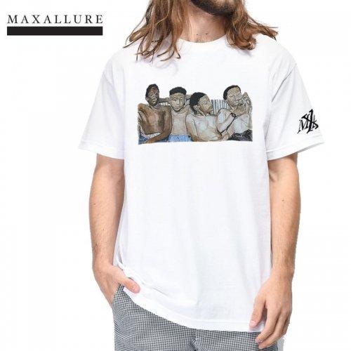 【MAXALLURE マックス アルーア スケボー Tシャツ】THE ERA COLLECTIONS TEE【ホワイト】NO5
