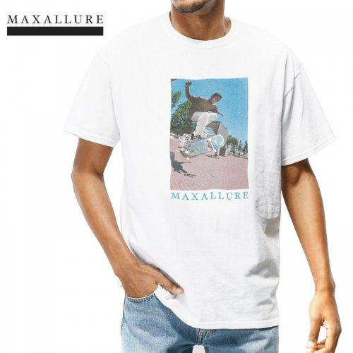 【MAXALLURE マックス アルーア スケボー Tシャツ】LEGACY TEE【ホワイト】NO6