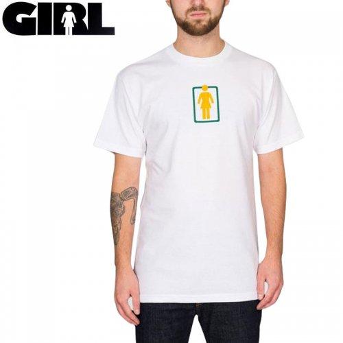 【ガール GIRLSKATEBOARD  スケボー Tシャツ】UNBOXED OG CENTER TEE【ホワイト】NO306