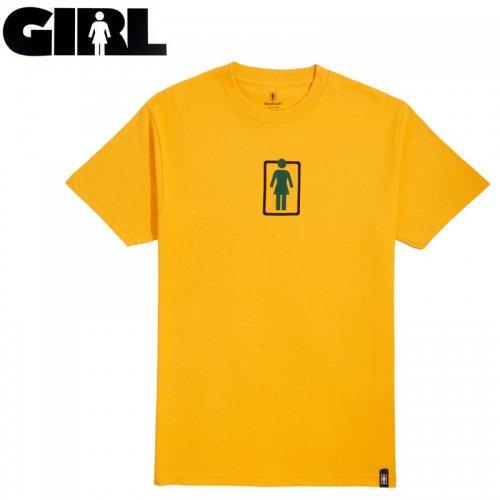 【ガール GIRLSKATEBOARD  スケボー Tシャツ】UNBOXED OG CENTER TEE【ゴールド】NO307