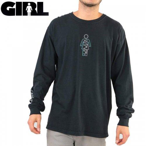 【GIRL ガールスケートボード ロング Tシャツ】WAYWARD OG L/S TEE【ブラック】NO22