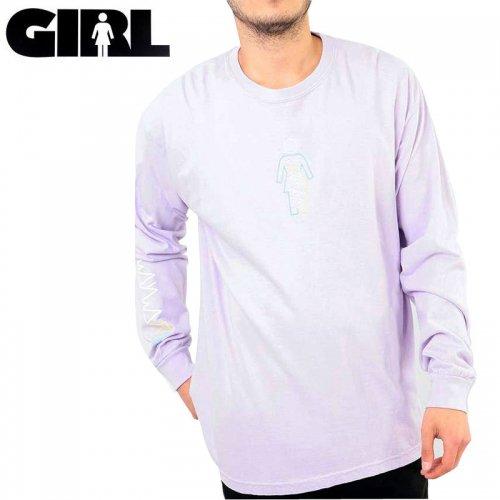 【GIRL ガールスケートボード ロング Tシャツ】WAYWARD OG L/S TEE【ラベンダー】NO23