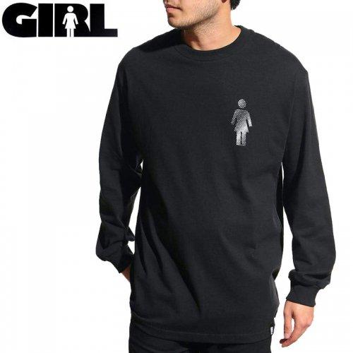 【GIRL Skateboards ガールスケートボード ロング Tシャツ】DOT OG L/S TEE【ブラック】NO24