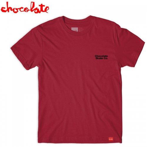 【チョコレート スケートボードCHOCOLATE SKATEBOARDS Tシャツ】DANCE TEE 【カーディナル】NO180