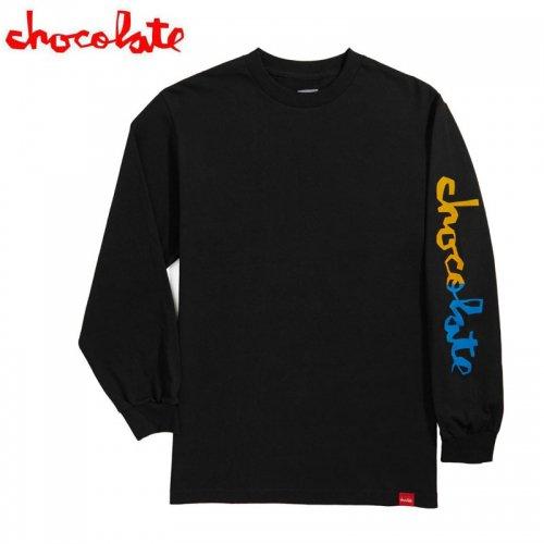 【チョコレート CHOCOLATE スケボー ロングTシャツ】HALF CHUNK L/S TEE【ブラック】NO19
