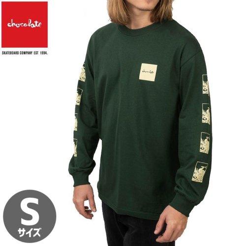 【チョコレート CHOCOLATE スケボー ロングTシャツ】PEACOCK L/S TEE【フォレストグリーン】NO21