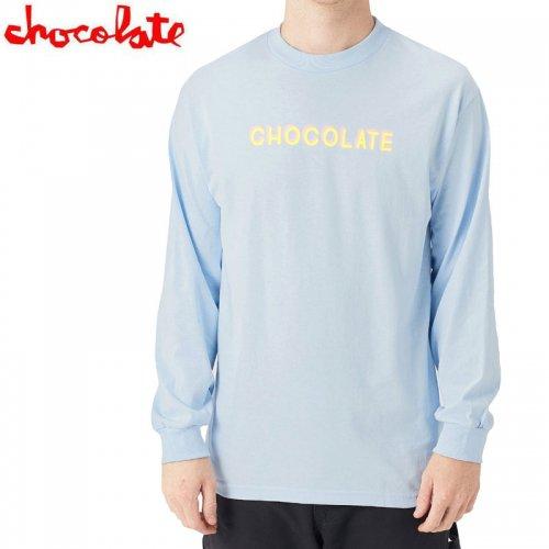 【チョコレート CHOCOLATE スケボー ロングTシャツ】BAR L/S TEE【パウダーブルー】NO22