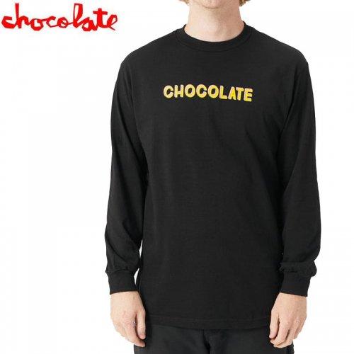【チョコレート CHOCOLATE スケボー ロングTシャツ】BAR L/S TEE【ブラック】NO23