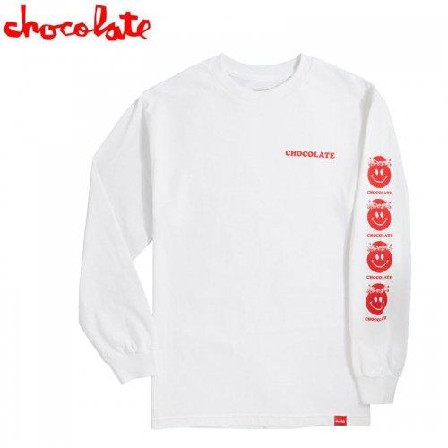 【チョコレート CHOCOLATE スケボー ロングTシャツ】MINDBLOWN L/S TEE【ホワイト】NO24
