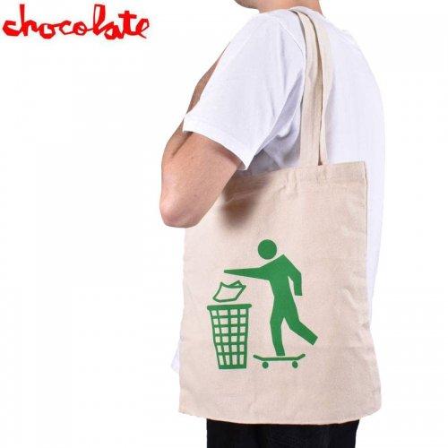 【チョコレート CHOCOLATE トートバック】DON'T TRASH TOTE BAG ナチュラル NO20
