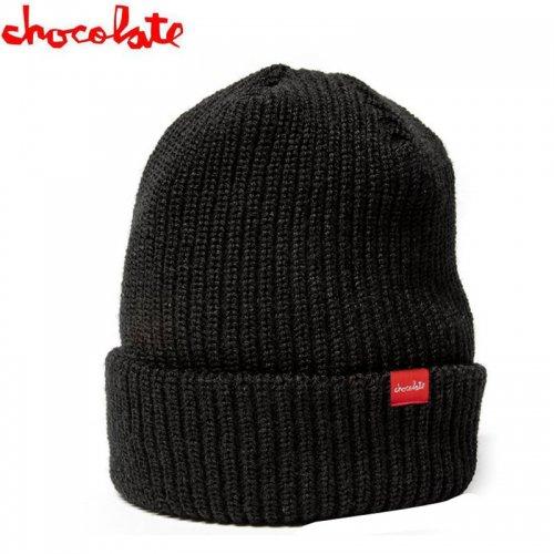 【チョコレート CHOCOLATE ニットキャップ】CHUNK CLIP BEANIE ブラックNO24