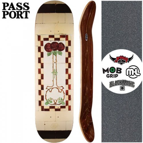 【PASS~PORT パスポート スケートボード デッキ】TILE LIFE CREAM DECK【7.875インチ】NO31