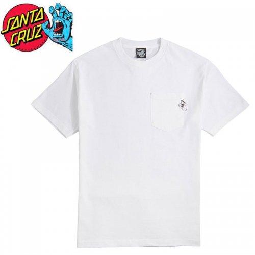 【サンタクルズ SANTA CRUZ スケボー Tシャツ】POCKET HAND POCKET S/S TEE【ホワイト】NO125