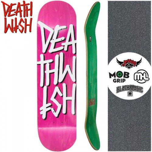 【デスウィッシュ DEATH WISH スケートボード デッキ】DEATHSTACK DECK【8.25インチ】マゼンタ NO122