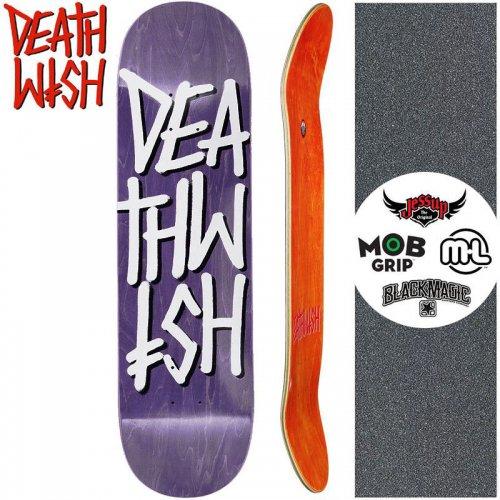 【デスウィッシュ DEATH WISH スケートボード デッキ】DEATHSTACK DECK【8.25インチ】パープル NO123