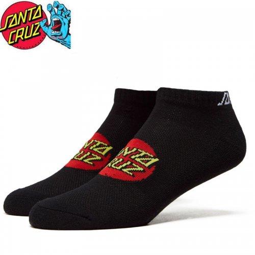 【サンタクルーズ SANTA CRUZ ソックス】CLASSIC DOT ANKLE SOCKS 2足組 ブラック NO34