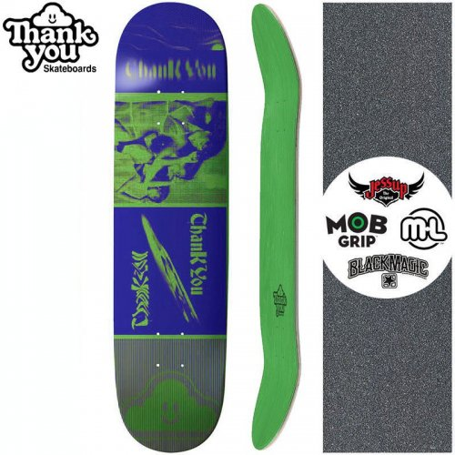 【THANK YOU SKATEBOARDS サンキュー スケートボード デッキ】PERSPECTIVES DECK【7.75インチ】グリーン NO14