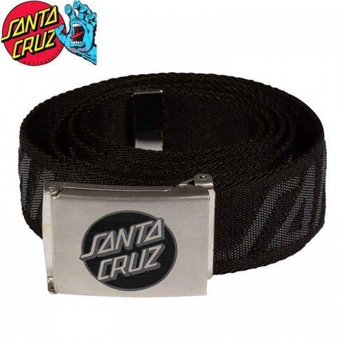 【サンタクルーズ SANTA CRUZ ベルト】MISSING DOT WEB BELT ブラック NO5