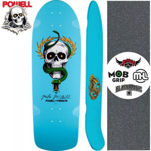 【パウエル POWELL スケートボード デッキ】MCGILL OG SKULL AND SNAKE【10インチ】オールドスクール NO71