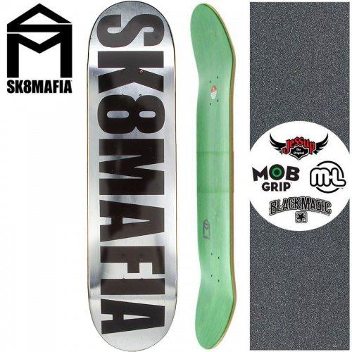 【スケートマフィア SK8MAFIA スケートボード デッキ】OG LOGO CHROME FOIL DECK【8.0インチ】【8.2インチ】NO124