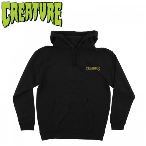 【CREATURE クリーチャー スケボー パーカー】OTHER WORLD PULL OVER HOODED【ブラック】NO14