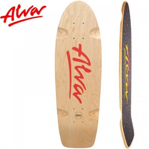 【ALVA SKATES アルバ スケートボード デッキ】BELA RE-ISSUE RED DECK【27インチ】復刻 クルーザーシェイプ NO12