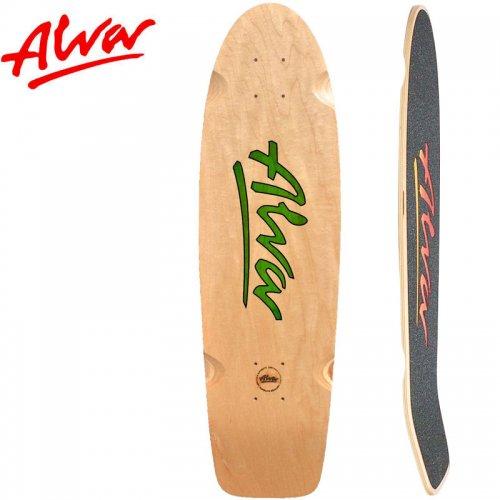 【ALVA SKATES アルバ スケートボード デッキ】1978 LOST MODEL RE-ISSUE GREEN【30インチ】復刻 クルーザーシェイプ NO13