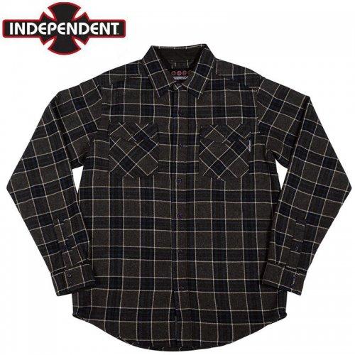 【インディペンデント INDEPENDENT フランネルシャツ】HATCHET L/S SHIRT グレー×ブラック×チャコール NO4