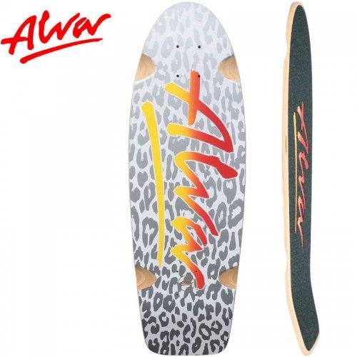 【ALVA SKATES アルバ スケートボード デッキ】LEOPARD LOST MODEL - SILVER & FLAME【30インチ】復刻 クルーザーシェイプ NO14