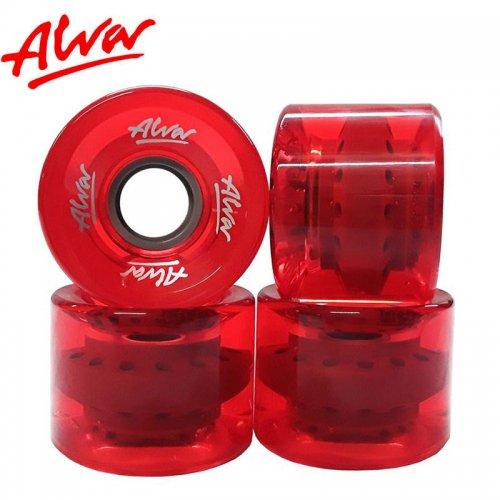【ALVA SKATES アルバ スケートボード ソフト ウィール】CRUISER WHEELS CLEAR RED【60mm】クルーザーウィール NO4