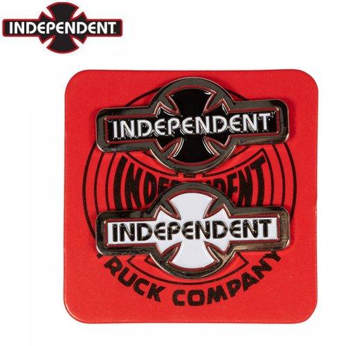 【INDEPENDENT インディペンデント スケボー バッヂ】O.G.B.C. PIN SET 2個1セット ブラック ホワイト NO15