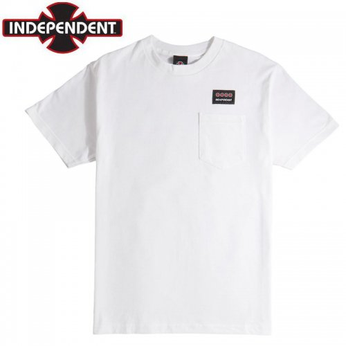 【インディペンデント Tシャツ】WOVEN LABEL S/S POKET TEE【ホワイト】NO178