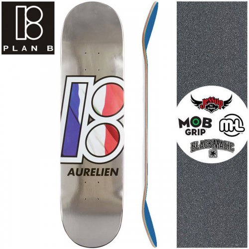 【プランビー PLAN-B スケートボード デッキ】AURELIEN GLOBAL DECK【8.0インチ】NO173