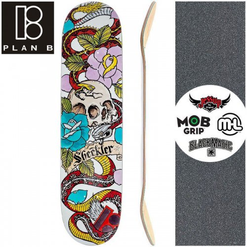 【プランビー PLAN-B スケートボード デッキ】SHECKLER CRANIAL DECK【8.0インチ】NO174