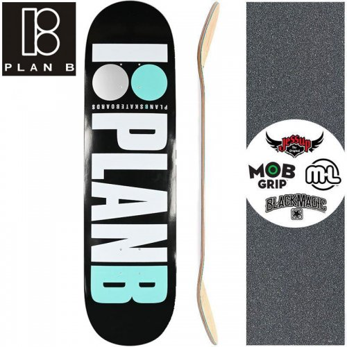 【プランビー PLAN-B スケートボード デッキ】TEAM OG TEAL DECK【7.75インチ】NO176