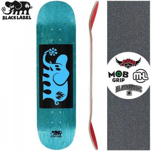 【ブラックレーベル BLACK LABEL スケートボード デッキ】ELEPHANT BLOCK BLUE DECK ティール【8.125インチ】NO89