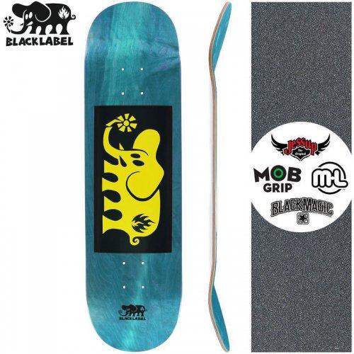 【ブラックレーベル BLACK LABEL スケートボード デッキ】ELEPHANT BLOCK YELLOW DECK ティール【8.38インチ】NO90