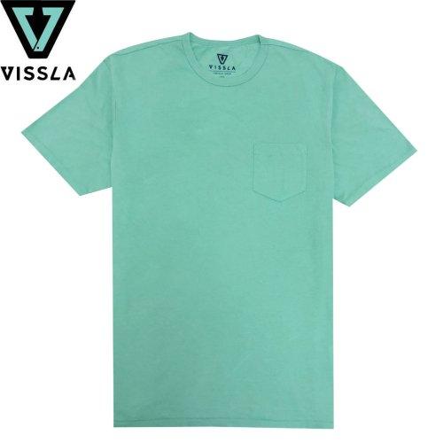 【ヴィスラ VISSLA サーフィン Tシャツ】VINTAGE WASH POCKET TEE【ジェイド】NO7