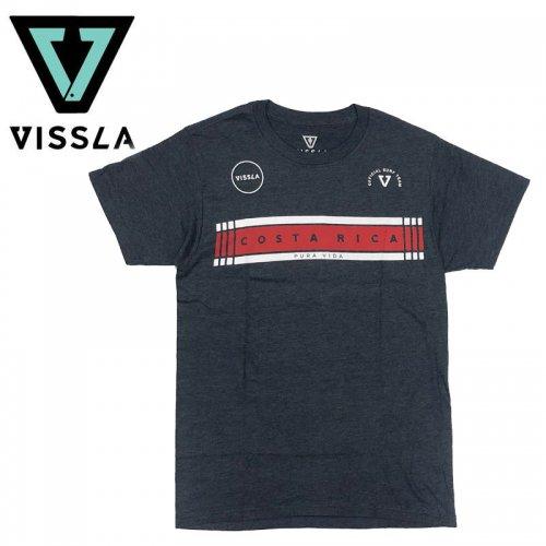 【ヴィスラ VISSLA サーフィン Tシャツ】COSTA RICA TEAM TEE【ネイビーヘザー】NO8
