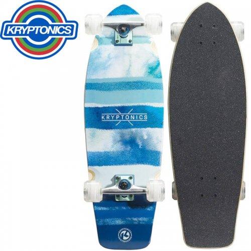【KRYPTONICS クリプトニクス クルーザー スケートボード】SUPER FAT CRUISER COMPLETE【30.5インチ】BLUE FISH NO7