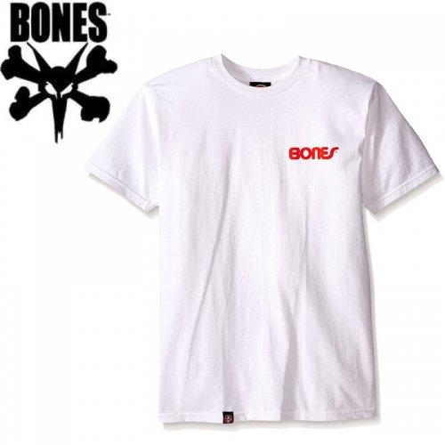 【ボーンズ BONES スケボー Tシャツ】SWISS TEXT TEE【ホワイト】NO39
