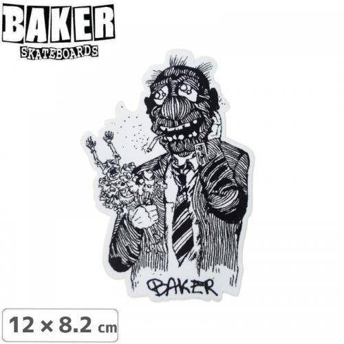 【ベーカー スケボー ステッカー】BAKER BOUQUET STICKER 【12cm×8.2cm】NO77