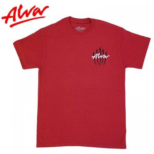 【ALVA SKATES アルバ スケートボード Tシャツ】SCRATCH LOGO TEE【レッド】NO1