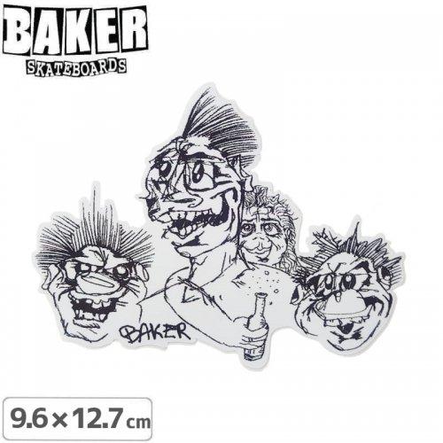 【ベーカー スケボー ステッカー】BAKER BEER TIME STICKER 9.6cm×12.7cm NO78