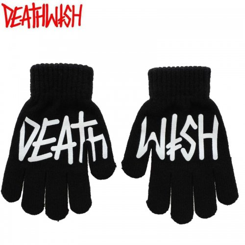【デスウィッシュ DEATH WISH 手袋】DEATHSPRAY GLOVES【ブラック】NO1