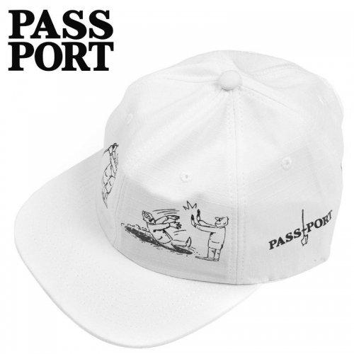 【PASS~PORT パスポート スケボー キャップ】W.C.W.B.F 6PANEL CAP ホワイト NO12
