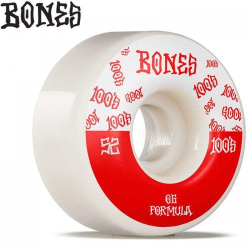 【ボーンズ BONES スケボー ウィール】100S O.G. FORMULA #13 V4 100A【52mm】NO233