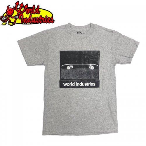 【WORLD INDUSTRIES ワールドインダストリーズ スケートボード Tシャツ】DOUBLE DIP TEE【グレー】NO1