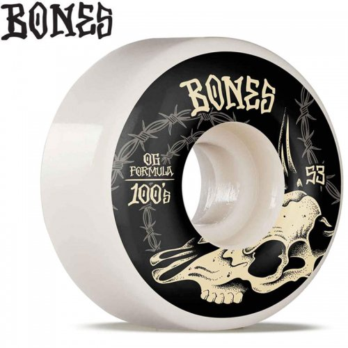 【ボーンズ BONES スケボー ウィール】100S O.G. DESERT SKULL V4 WIDE 100A【53mm】NO235
